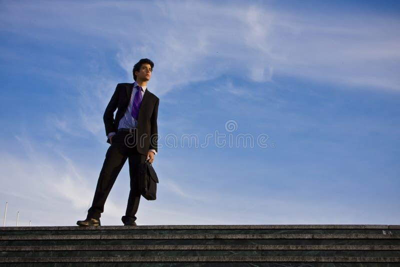 лестницы бизнесмена стоковое фото rf
