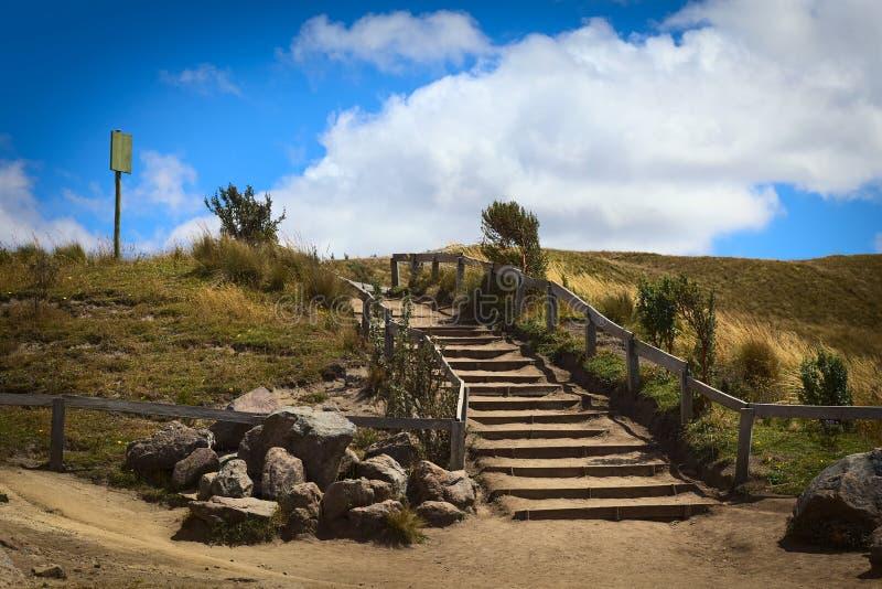 Лестницы в ландшафте Paramo стоковые изображения rf