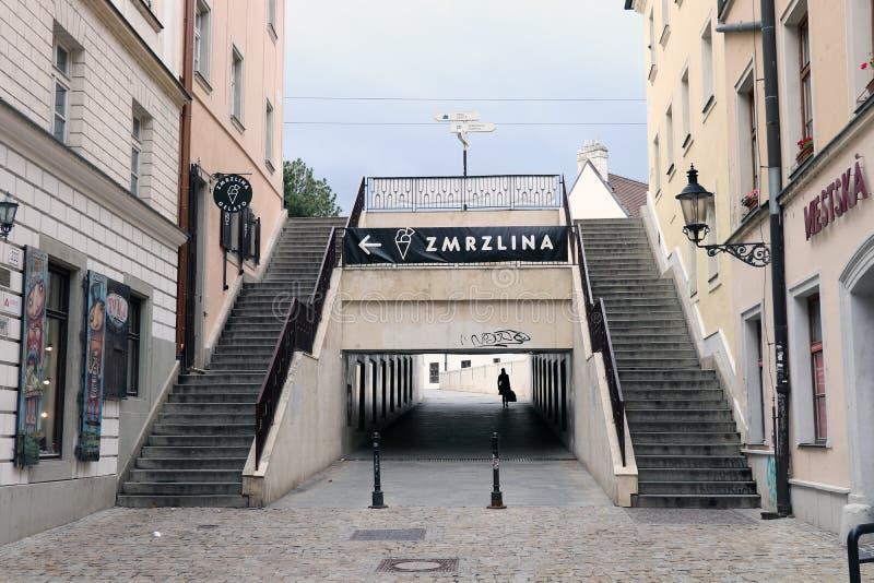 Лестницы в городке стоковое фото rf