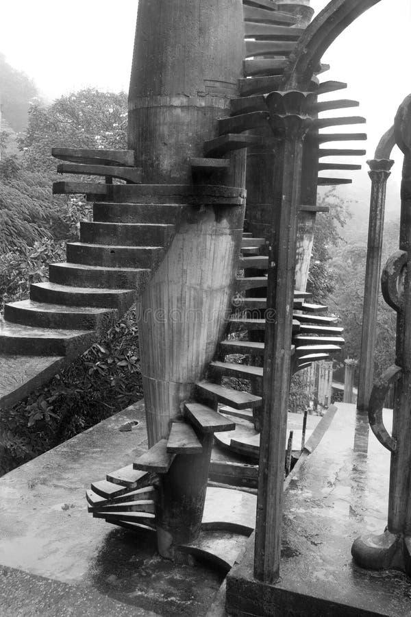 Лестницы в Xilitla стоковое фото rf