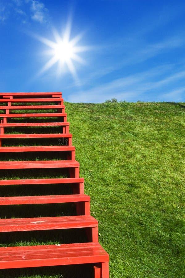 лестницы греют на солнце к стоковые изображения rf