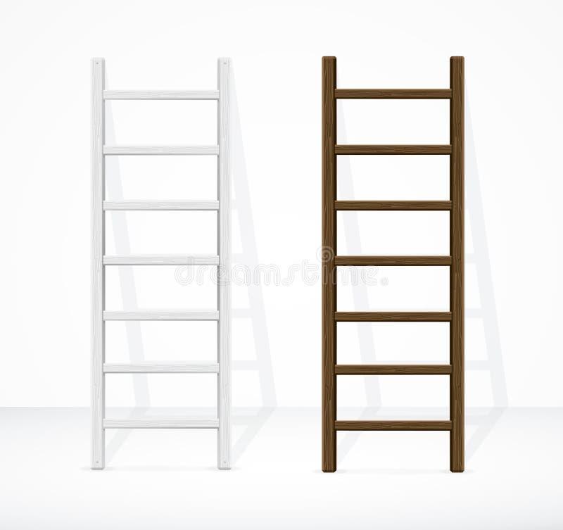 Лестницы и стена вектор иллюстрация штока
