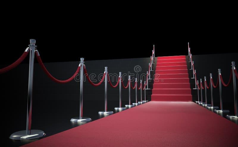 лестницы красного цвета ковра бесплатная иллюстрация