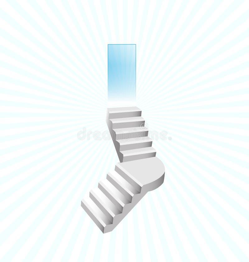 Лестницы к концепции вектора рая иллюстрация вектора