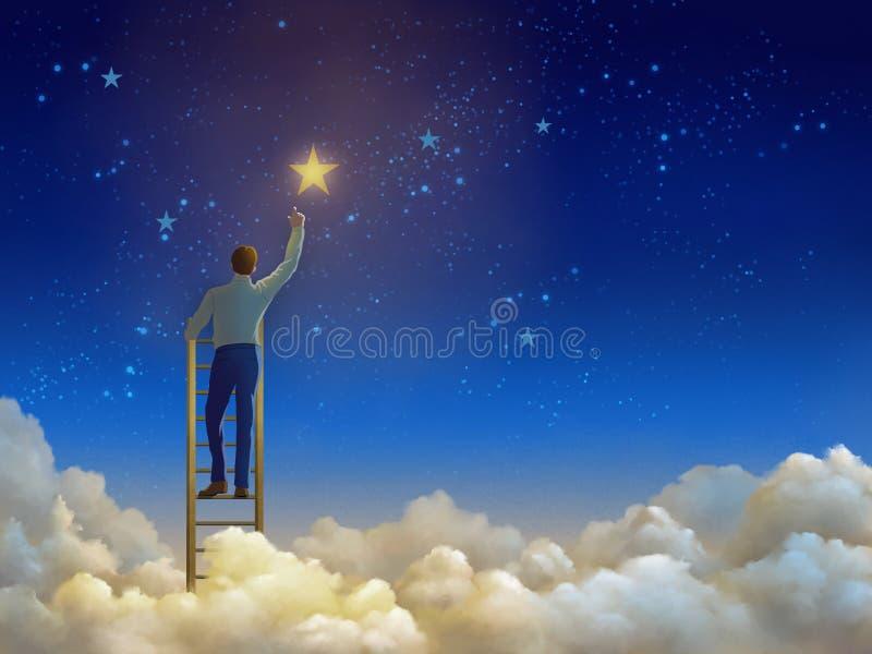 Лестницы к небу иллюстрация вектора