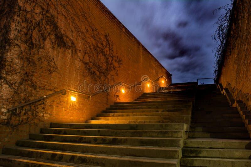 Лестницы к садам Дениса стоковое изображение rf