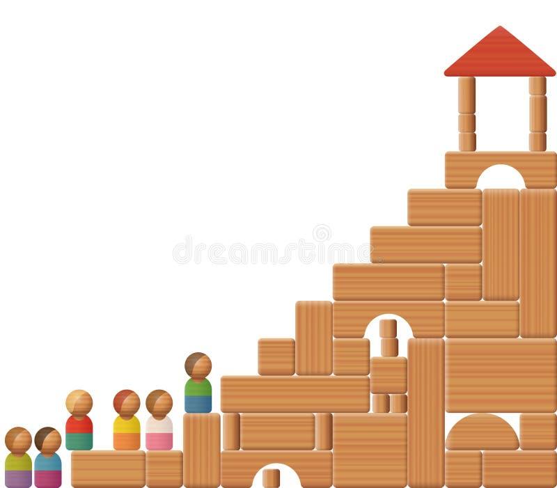 Лестницы к строительным блокам успеха бесплатная иллюстрация