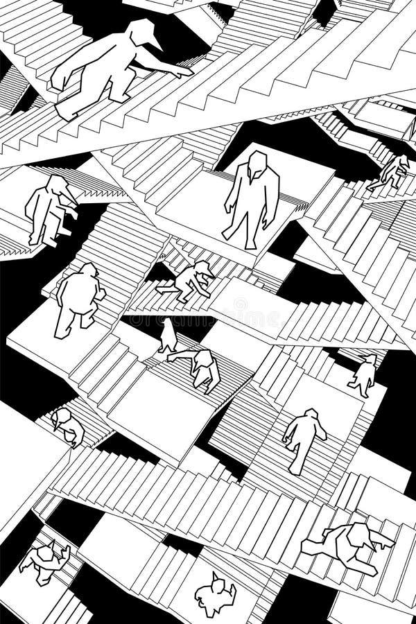 лестницы лабиринта иллюстрация штока