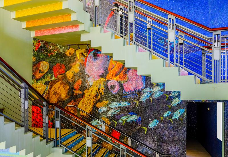 Лестницы наблюдательной вышки стоковое изображение