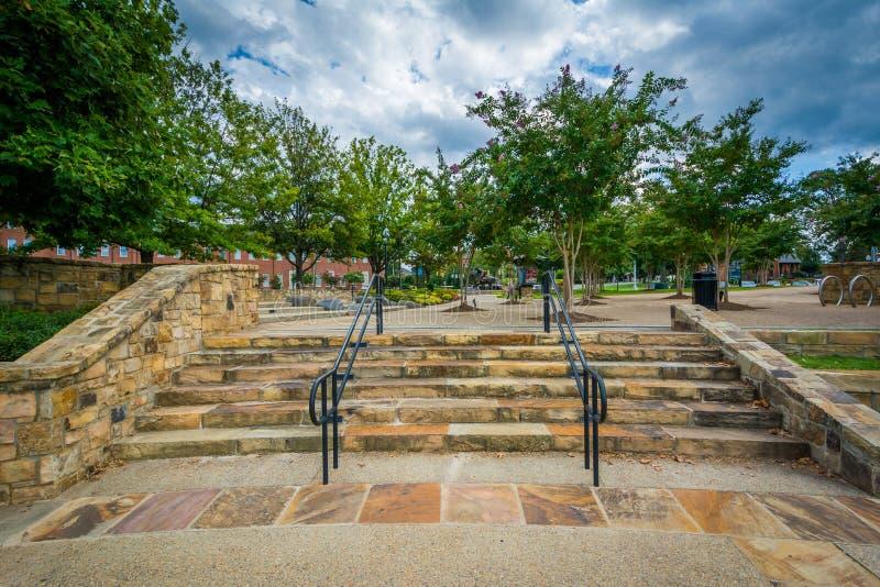 Лестницы на парке Элизабета, в Элизабете, Шарлотта, северное Carolin стоковая фотография