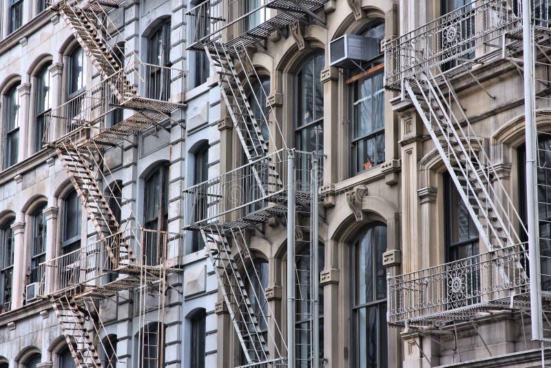 Лестницы пожарной лестницы стоковое фото
