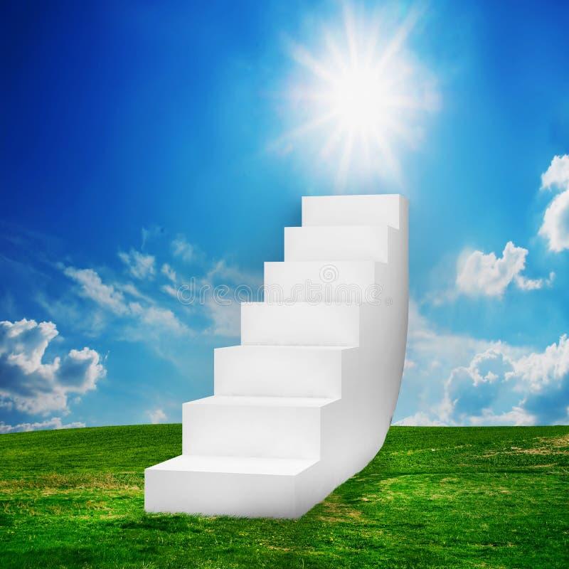 лестницы поля белые стоковые фото