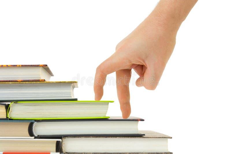 лестницы руки книги стоковое изображение rf