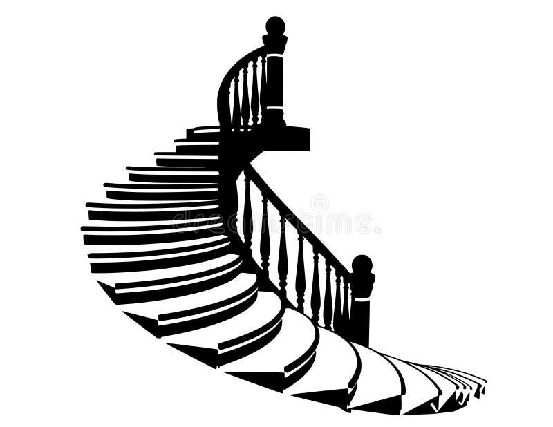 Лестницы силуэта вектора стоковое изображение rf