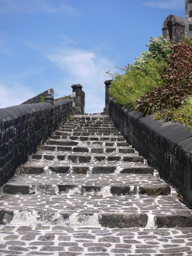 Лестницы для того чтобы сразить здание стоковое изображение