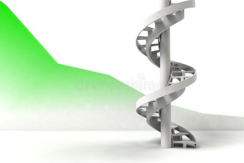 лестницы 3d иллюстрация штока