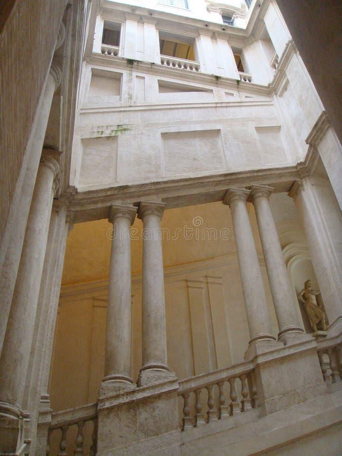 Лестницы Bernin к дворцу Barberini в Риме, Италии стоковое изображение