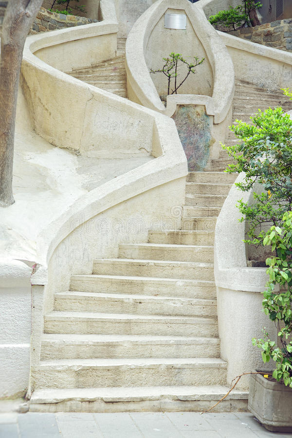 Лестницы Camondo в районе Galata в Istanul, Турции стоковое фото