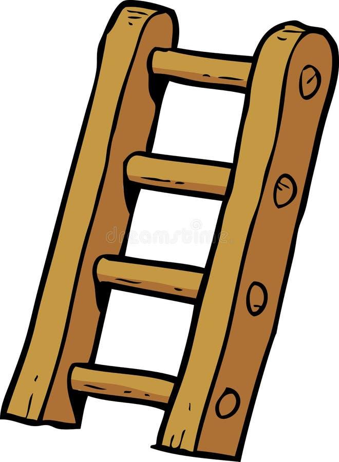 Лестницы doodle шаржа иллюстрация вектора