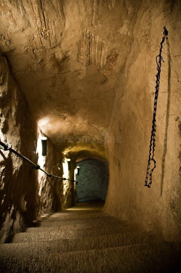 лестницы dungeon старые стоковые изображения rf