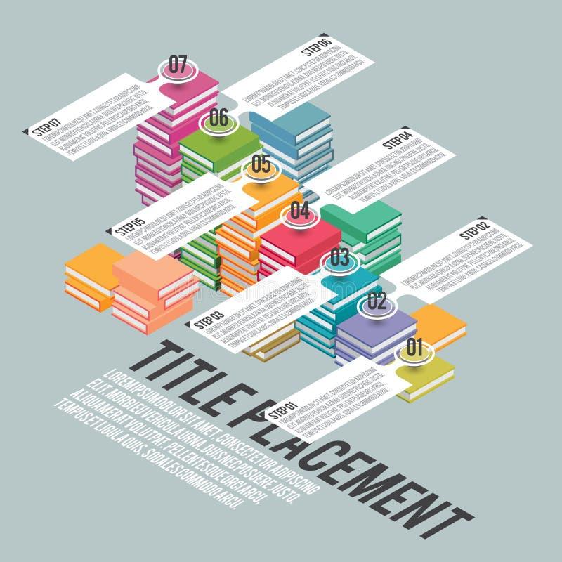 Лестницы Infographic книги бесплатная иллюстрация