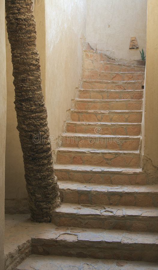 лестницы siwa Египета стоковые фото
