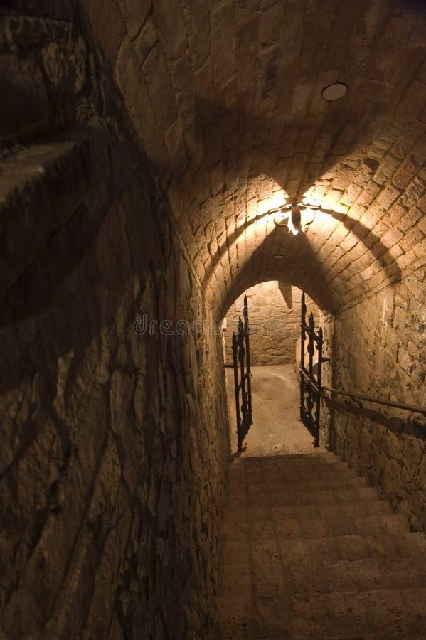 Лестничный колодец к dungeon стоковые фото