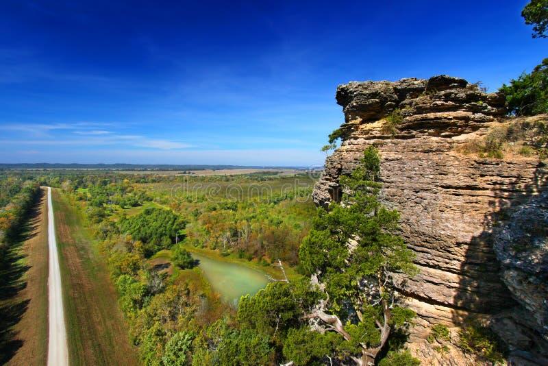 Лес Иллинойс Shawnee пункта воодушевленности стоковая фотография rf