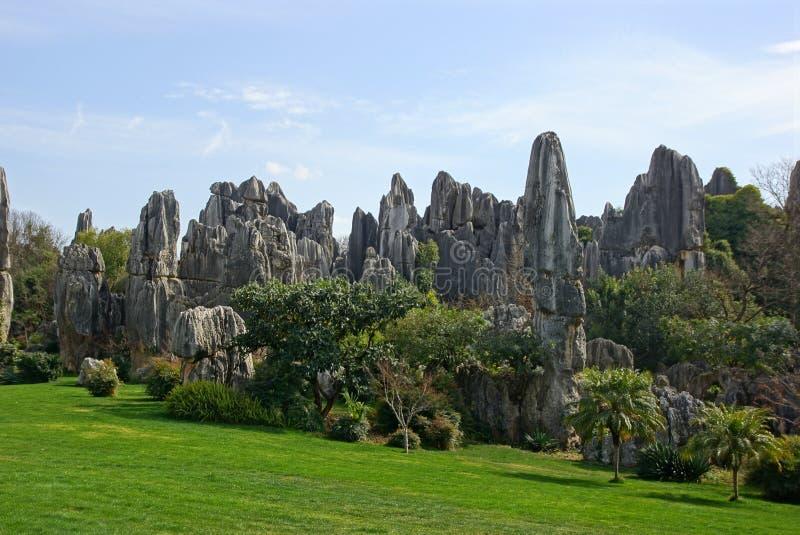 Лес камня Shilin в Kunming, Юньнань, Китае стоковое изображение rf