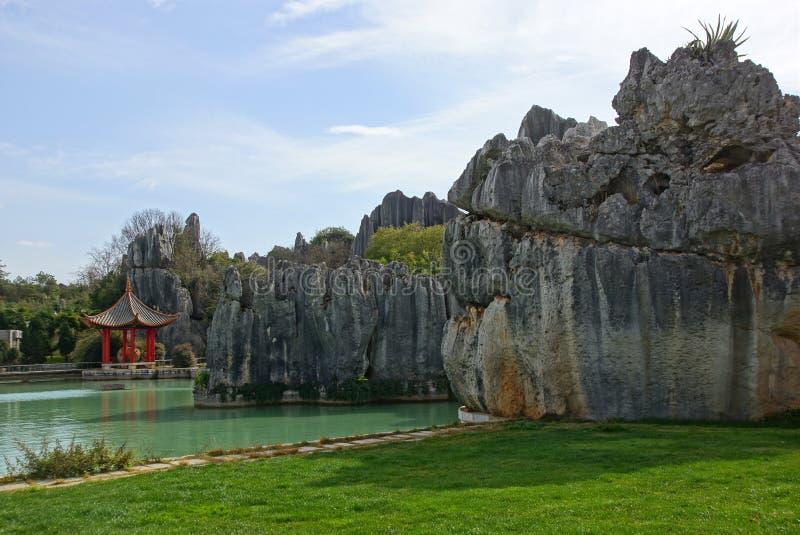 Лес камня Shilin в Kunming, Юньнань, Китае стоковая фотография rf
