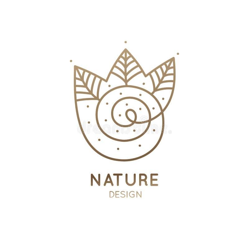Лес логотипа спиральный бесплатная иллюстрация