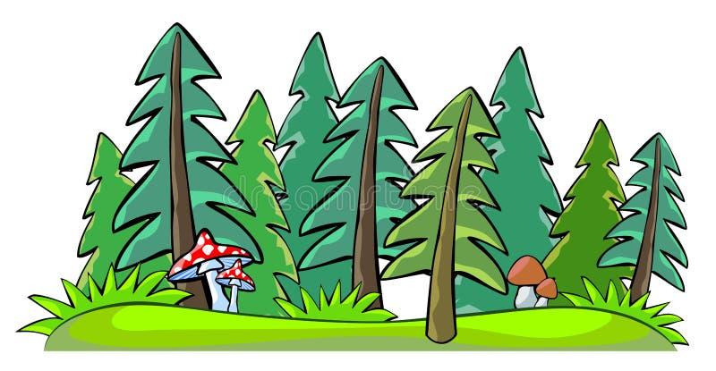 Лес бесплатная иллюстрация
