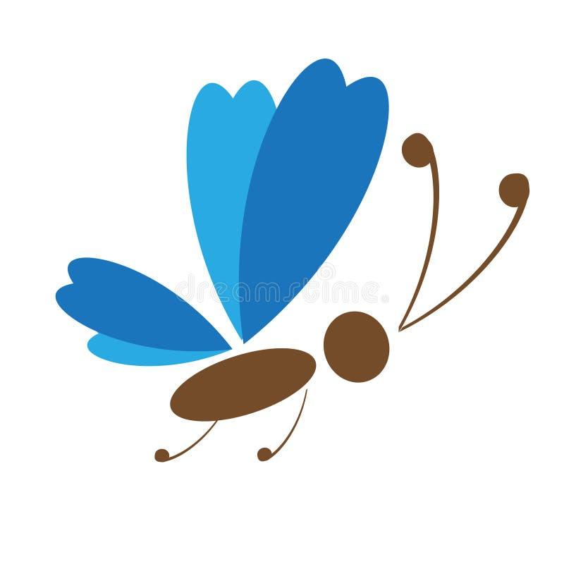 летание бабочки иллюстрация штока