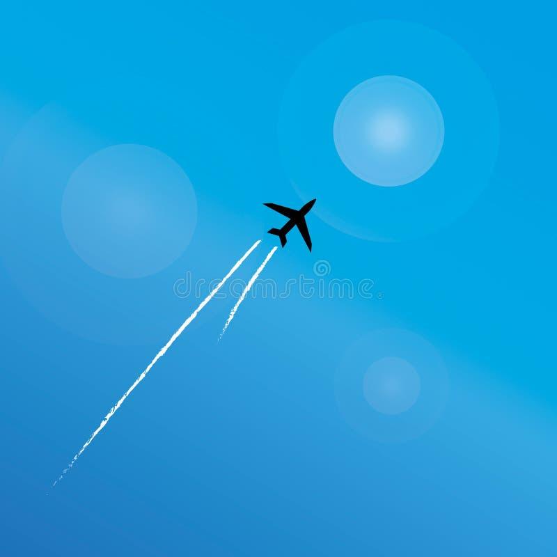 летание земли груза авиалайнера воздуха над перевозкой бесплатная иллюстрация