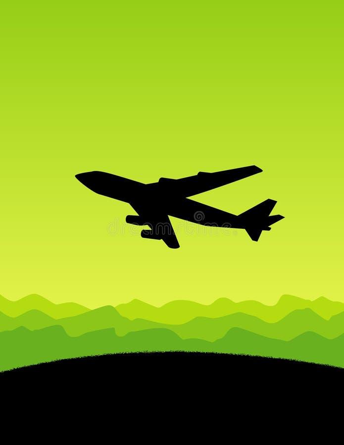 летание земли над плоскостью иллюстрация штока