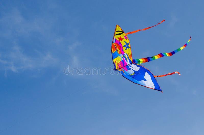 Летание змея в небе стоковое изображение