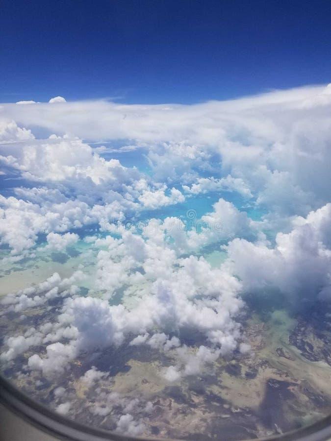 Летание над Вест-Инди стоковое изображение rf