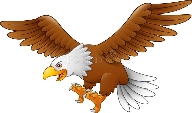 Летание орла шаржа иллюстрация вектора