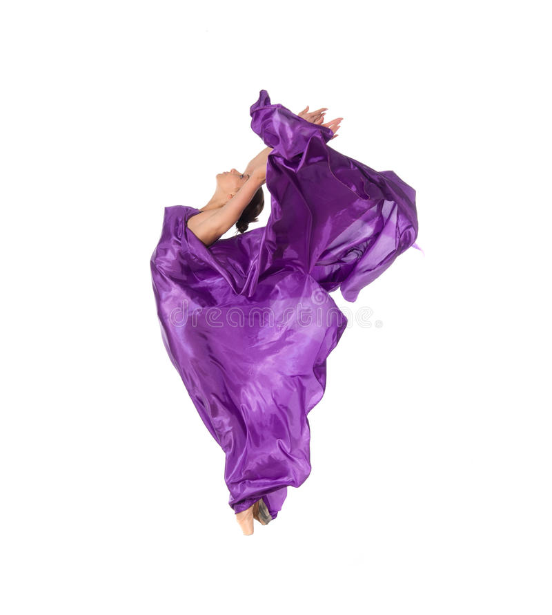 летание платья танцора балета стоковая фотография