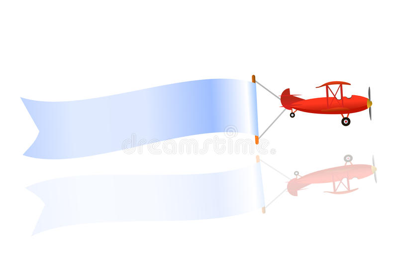 летание пробела знамени самолета бесплатная иллюстрация