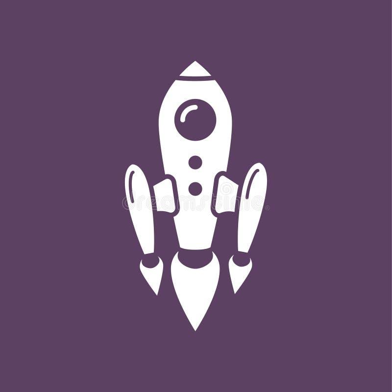 Летание ракеты космоса иллюстрация вектора