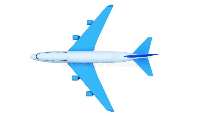 Летание самолета пассажира среди облаков кумулюса высоких в небе против светя солнца на дневном времени иллюстрация 3D была сдела иллюстрация штока