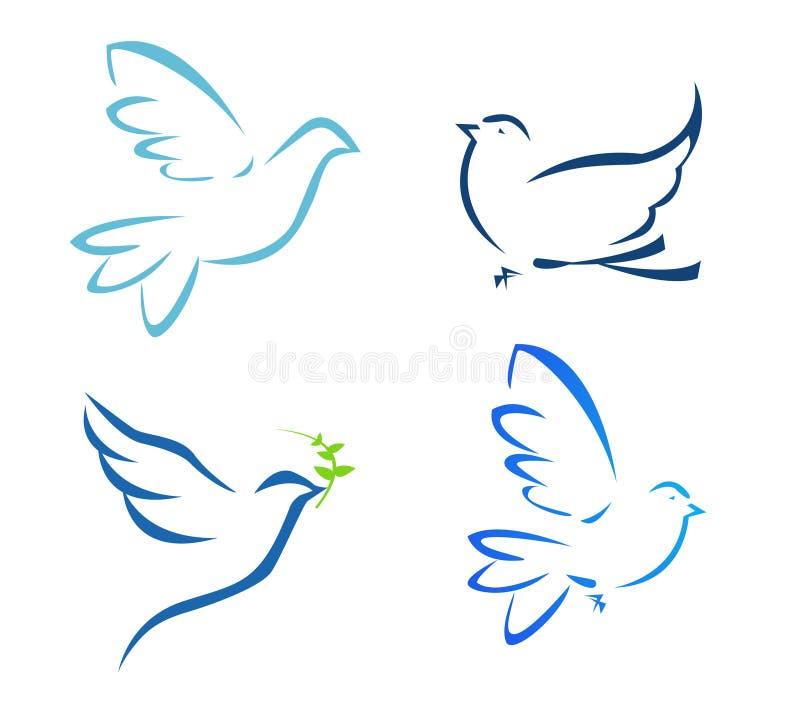 летание dove иллюстрация вектора