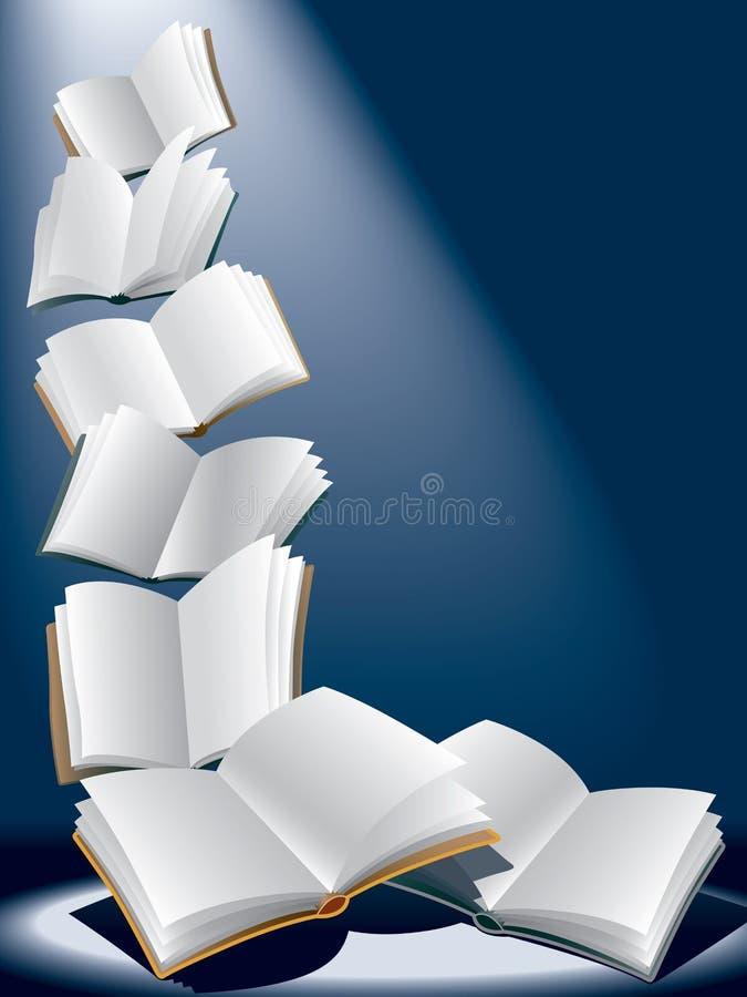 летать книг иллюстрация вектора
