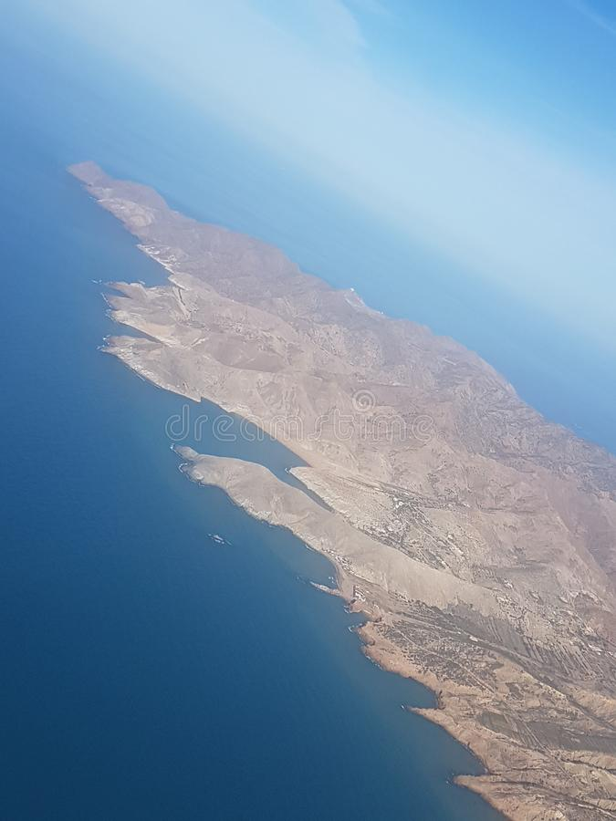 Летать над Charrane в Северной Африке стоковые фотографии rf