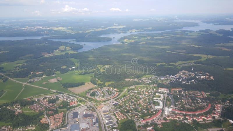 Летать над Швецией стоковая фотография