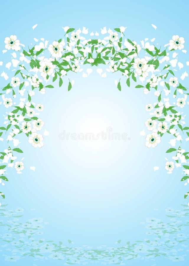 летать цветков иллюстрация штока