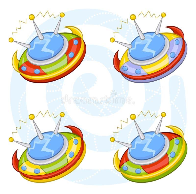 летающие тарелки шаржа бесплатная иллюстрация