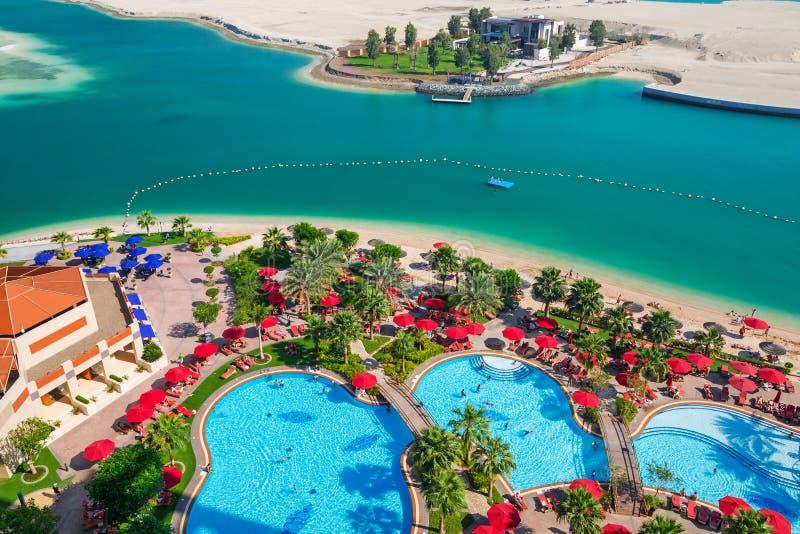 Летние отпуска в Абу-Даби, ОАЭ стоковое фото