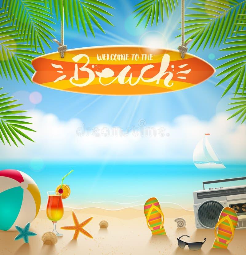 Летние отпуска и иллюстрация каникул бесплатная иллюстрация